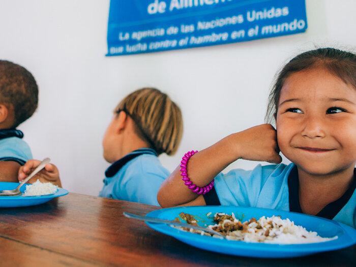 Children in school classroom in Colombia