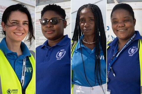 Quatre femmes font voler l'hélicoptère humanitaire du PAM en Haïti, allons à leur rencontre…