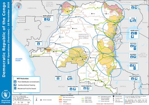 Sur la terre comme au ciel, le PAM surmonte les défis logistiques en RDC