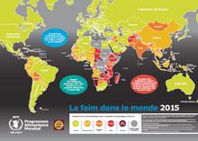 Carte de la faim dans le monde 2015