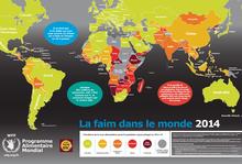 Carte de la faim dans le monde 2014