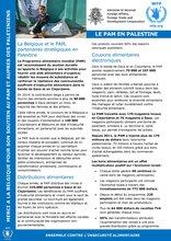 Le PAM et la Belgique, partenaires stratégiques en Palestine