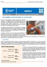 Niger: Programme de renforcement de la résilience