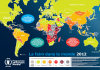 Carte de la faim dans le monde 2012